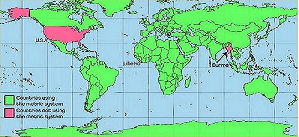 <b>Countries using the metric system.  At this time only 3 countries do not use the metric system: the United States, Liberia and Burma.  Not sure I would want to be in Burmese company for any noteworthy fact!   Liberia owes its founding to inspiration and support from the United States so it is no surprise they are following the American lead on this matter. </b>